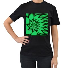 The Fourth Dimension Fractal Women s T Shirt (black)