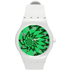 The Fourth Dimension Fractal Round Plastic Sport Watch (m)