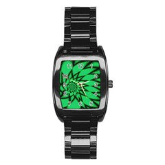 The Fourth Dimension Fractal Stainless Steel Barrel Watch