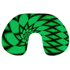The Fourth Dimension Fractal Travel Neck Pillows
