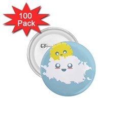 Cloud Cloudlet Sun Sky Milota 1 75  Buttons (100 Pack)