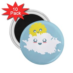 Cloud Cloudlet Sun Sky Milota 2 25  Magnets (10 Pack)  by BangZart
