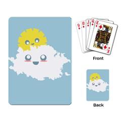 Cloud Cloudlet Sun Sky Milota Playing Card by BangZart