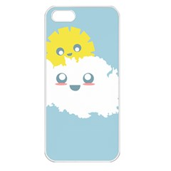 Cloud Cloudlet Sun Sky Milota Apple Iphone 5 Seamless Case (white)