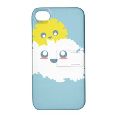 Cloud Cloudlet Sun Sky Milota Apple Iphone 4/4s Hardshell Case With Stand