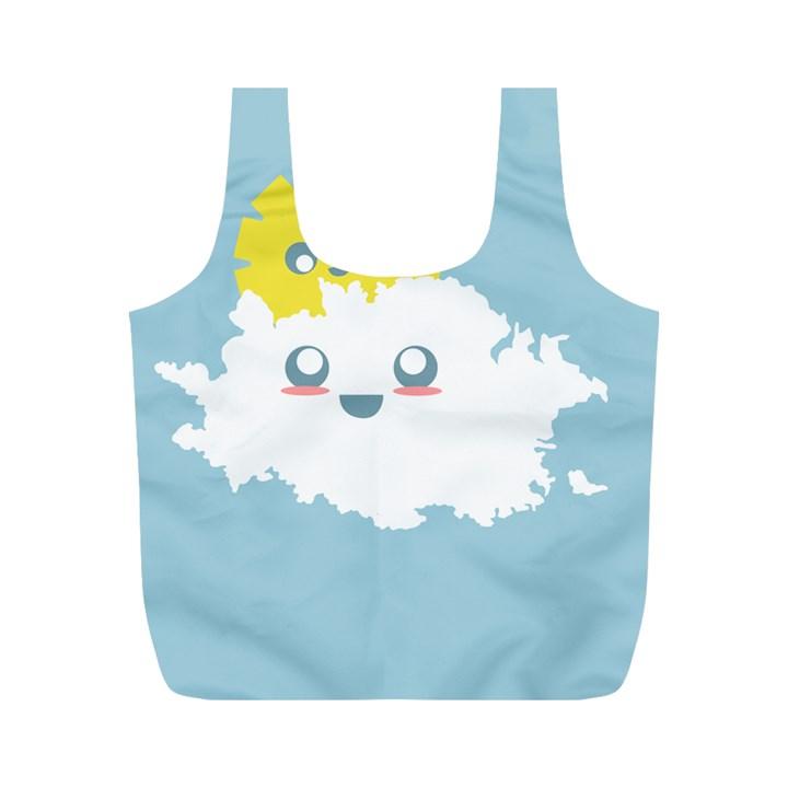 Cloud Cloudlet Sun Sky Milota Full Print Recycle Bags (M)