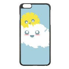 Cloud Cloudlet Sun Sky Milota Apple Iphone 6 Plus/6s Plus Black Enamel Case