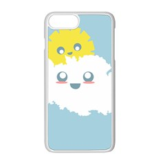 Cloud Cloudlet Sun Sky Milota Apple Iphone 8 Plus Seamless Case (white)