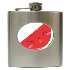 Watermelon Red Network Fruit Juicy Hip Flask (6 Oz)