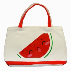 Watermelon Red Network Fruit Juicy Classic Tote Bag (red)