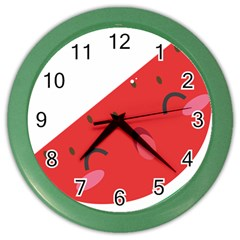 Watermelon Red Network Fruit Juicy Color Wall Clocks