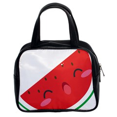 Watermelon Red Network Fruit Juicy Classic Handbags (2 Sides)