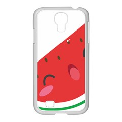 Watermelon Red Network Fruit Juicy Samsung Galaxy S4 I9500/ I9505 Case (white)
