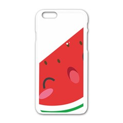 Watermelon Red Network Fruit Juicy Apple Iphone 6/6s White Enamel Case