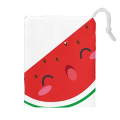 Watermelon Red Network Fruit Juicy Drawstring Pouches (extra Large)
