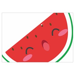 Watermelon Red Network Fruit Juicy Canvas Cosmetic Bag (medium)