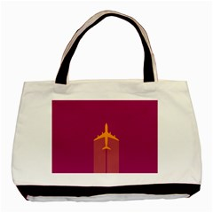 Airplane Jet Yellow Flying Wings Basic Tote Bag
