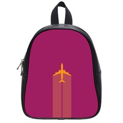 Airplane Jet Yellow Flying Wings School Bag (small)