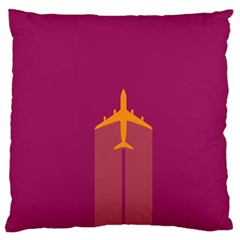 Airplane Jet Yellow Flying Wings Large Cushion Case (one Side)