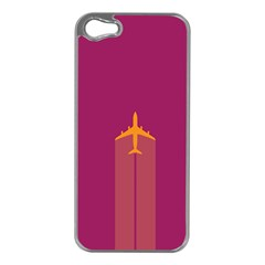 Airplane Jet Yellow Flying Wings Apple Iphone 5 Case (silver)