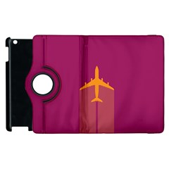 Airplane Jet Yellow Flying Wings Apple Ipad 3/4 Flip 360 Case by BangZart