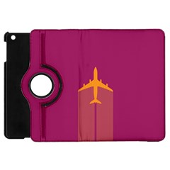 Airplane Jet Yellow Flying Wings Apple Ipad Mini Flip 360 Case