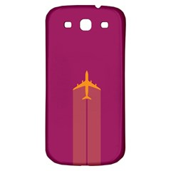 Airplane Jet Yellow Flying Wings Samsung Galaxy S3 S Iii Classic Hardshell Back Case