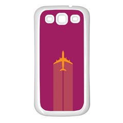 Airplane Jet Yellow Flying Wings Samsung Galaxy S3 Back Case (white)