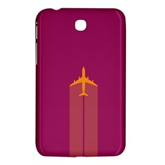 Airplane Jet Yellow Flying Wings Samsung Galaxy Tab 3 (7 ) P3200 Hardshell Case