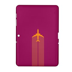 Airplane Jet Yellow Flying Wings Samsung Galaxy Tab 2 (10 1 ) P5100 Hardshell Case