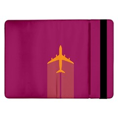 Airplane Jet Yellow Flying Wings Samsung Galaxy Tab Pro 12 2  Flip Case