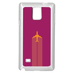 Airplane Jet Yellow Flying Wings Samsung Galaxy Note 4 Case (white)