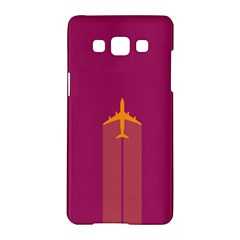 Airplane Jet Yellow Flying Wings Samsung Galaxy A5 Hardshell Case  by BangZart