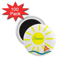 Summer Beach Holiday Holidays Sun 1 75  Magnets (100 Pack)
