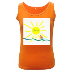 Summer Beach Holiday Holidays Sun Women s Dark Tank Top