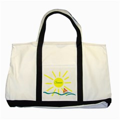 Summer Beach Holiday Holidays Sun Two Tone Tote Bag