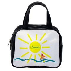 Summer Beach Holiday Holidays Sun Classic Handbags (one Side)