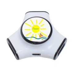 Summer Beach Holiday Holidays Sun 3 Port Usb Hub