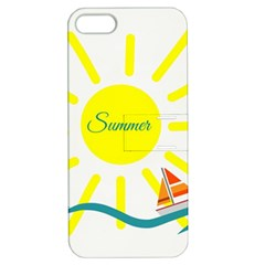 Summer Beach Holiday Holidays Sun Apple Iphone 5 Hardshell Case With Stand by BangZart