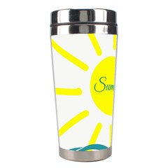 Summer Beach Holiday Holidays Sun Stainless Steel Travel Tumblers by BangZart
