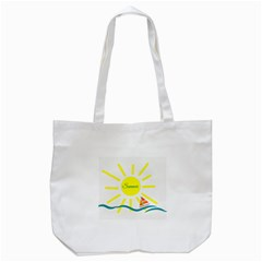 Summer Beach Holiday Holidays Sun Tote Bag (white)
