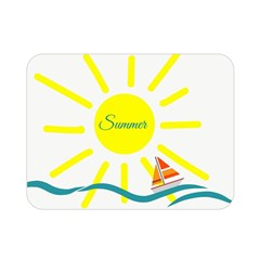 Summer Beach Holiday Holidays Sun Double Sided Flano Blanket (mini)