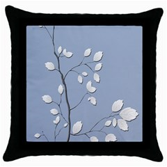Branch Leaves Branches Plant Throw Pillow Case (black) by BangZart