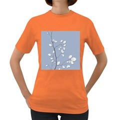 Branch Leaves Branches Plant Women s Dark T Shirt