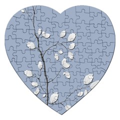 Branch Leaves Branches Plant Jigsaw Puzzle (heart) by BangZart