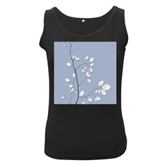 Branch Leaves Branches Plant Women s Black Tank Top
