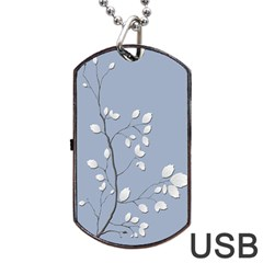 Branch Leaves Branches Plant Dog Tag Usb Flash (one Side) by BangZart