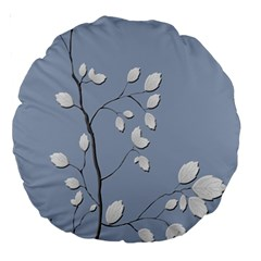 Branch Leaves Branches Plant Large 18  Premium Round Cushions