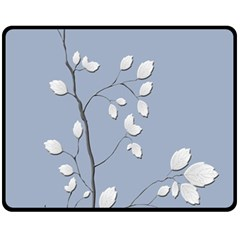 Branch Leaves Branches Plant Double Sided Fleece Blanket (medium)  by BangZart