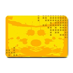 Texture Yellow Abstract Background Small Doormat